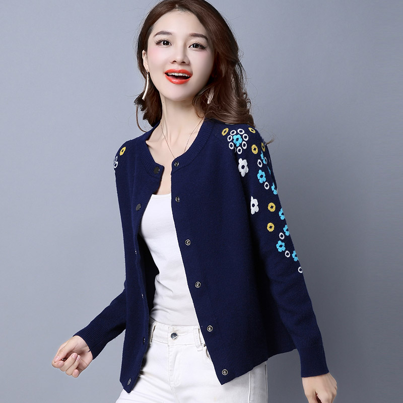 2017 New Fashion Autumn Spring Women Sweater Cardigans Casual Warm F Female Knitted Coat Cardigan Sweater Lady in Cardigans from Women 39 s Clothing