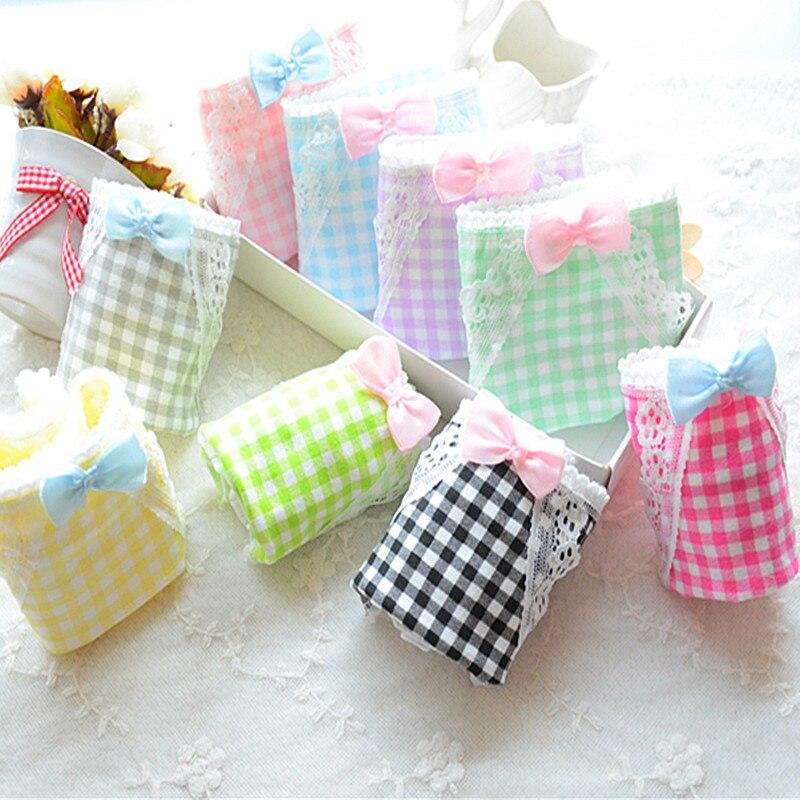 Buy 2018 cotton women bow cute underwear low waist lace panties tanga thong g string bragas culotte femme thongs perizoma panties
