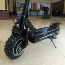 90mm off road tire Electro Kick Hub Motor Wheel Foldable Electric Scooter with Oil Disc brake on both wheels