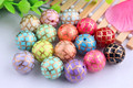 Colorful 20mm Round 100pcs/lot mixed color Acrylic Solid Print gold quarterfoil Beads For Kids Necklaces Making!