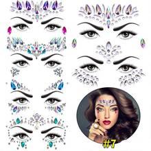 цена на Masquerade Face Decoration DIY Temporary Rhinestone Glitter Tattoo Stickers Gems Festival Party Makeup Body Jewels Flash G
