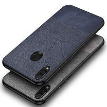 For Xiaomi Redmi Note 7 Pro Case Fabric Cloth 360 Full protection Hard PC Back Cover For Redmi note 7S Note 8 Pro Phone Case srhe for xiaomi redmi note 7 pro case cover note 7s vintage cloth fabric soft silicone full back cover for redmi note 7s note7