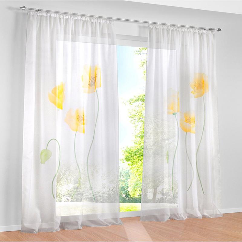 cortinas de tul para el dormitorio flor amarilla de navidad ventana cortina saln cortinas de