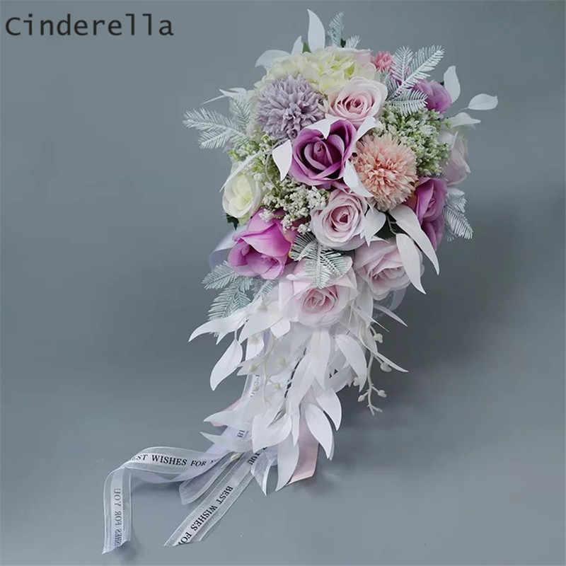 Cinderella Water Drop Wedding Bouquets Bridal Bridesmaid Flower