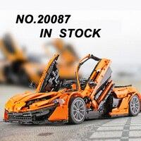 DHL Lepin 20087 McLaren P1 Hypercar 1:8 Technic Toys The MOC 16915 Orange Super Racing Car Set Building Block Bricks Educational
