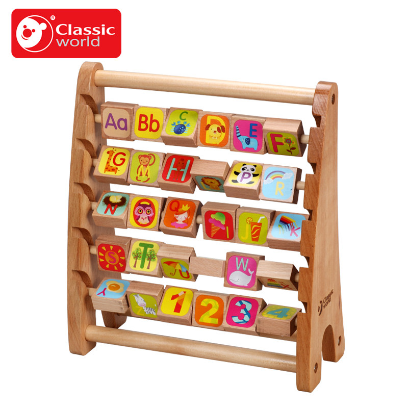 Classic world Wooden baby flap frame eco-friendly baby puzzle Multifuncation Learning Developmental letters animals Flap frame pilsan puzzle 4x4 animals