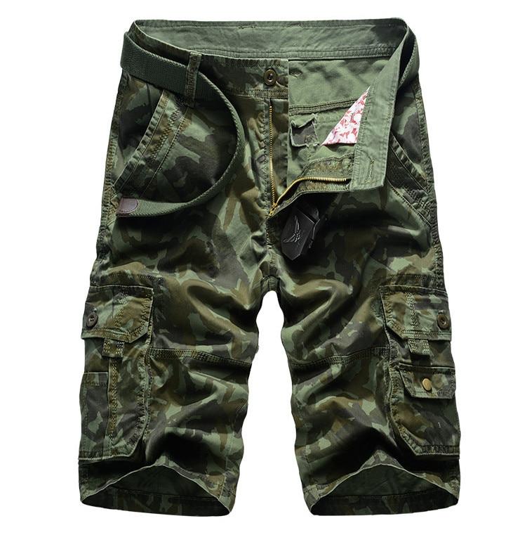 ZOEQO мужские бриджи, бермуды masculina de marca мужские повседневные мужские шорты Карго Camo карго шорты, военный камуфляж шорты - Цвет: army green