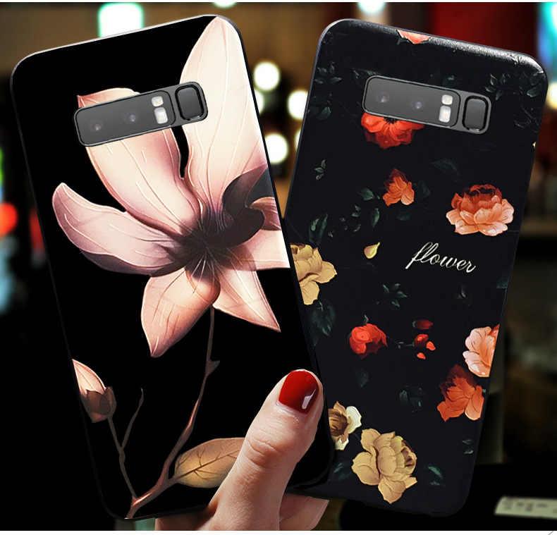 Para Samsung A40 funda flor relieve suave silicona teléfono contraportada para Samsung Galaxy A70 A50 A30 A20 A10 A20e s10 S10e S 10