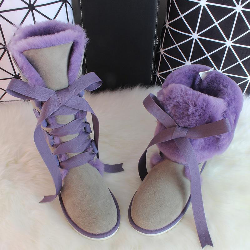 JAWAKYE Echtem leder silber balck Kurze Stiefel high heels