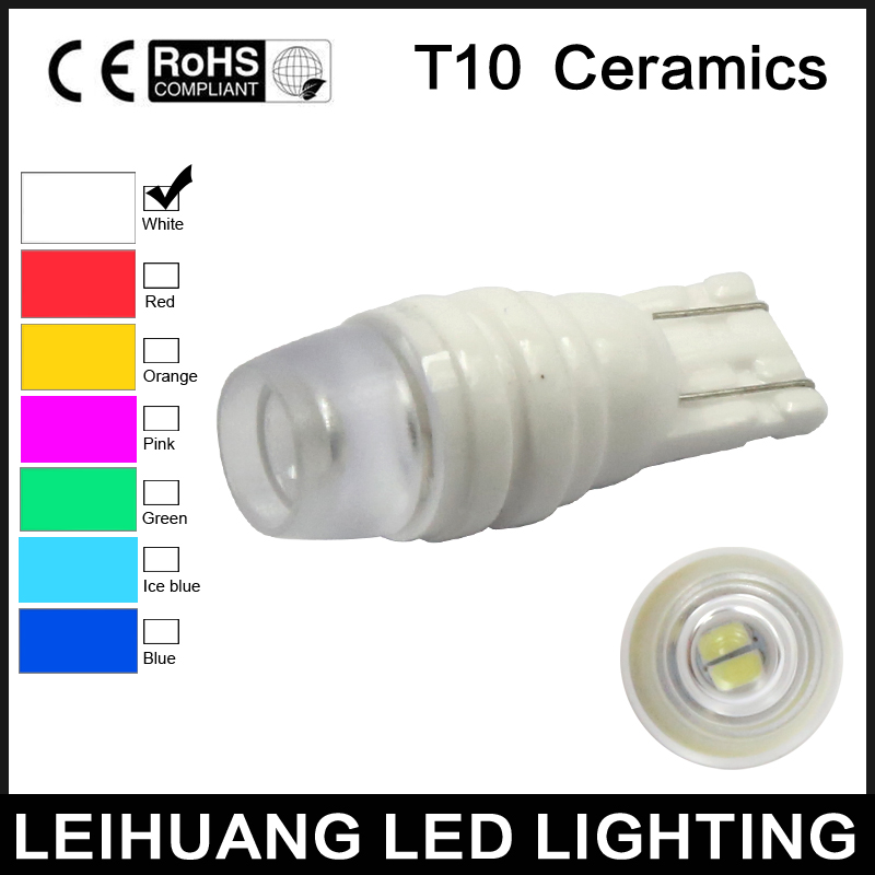 1pcs High Led 906 Bulb 921 T10 White Light Projector Mount 912 In Car Light Assembly From