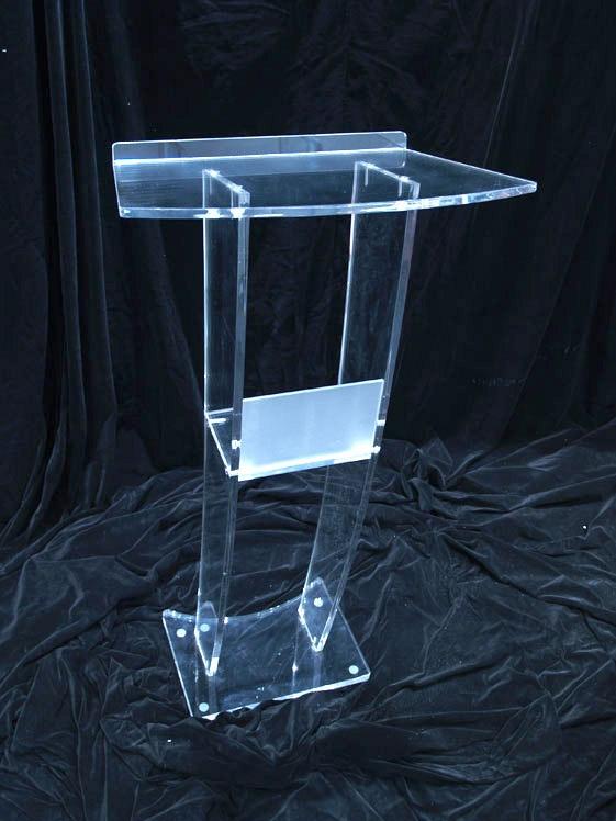 Clear Acrylic Platform / Perspex Church Lectern / Plexiglass Church Pulpit