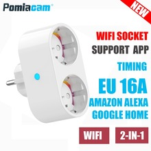 SP211 EU 16A plug socket WIFI smart socket EU Standard , Electric / Power Double Socket / Plug Outlet Dual Outlets Extension