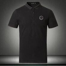 Yüksek kalite 2019 yeni gelenler erkek pamuklu polo gömlekler moda stil yaz kısa kollu POLO GÖMLEK erkekler artı boyutu 4XL 5XL 81871