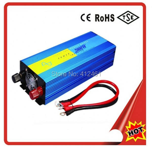 4000W peak 2000W Pure sine wave Inverter dc to ac power inverter 12V to 230V 50HZ off inverter free shipping