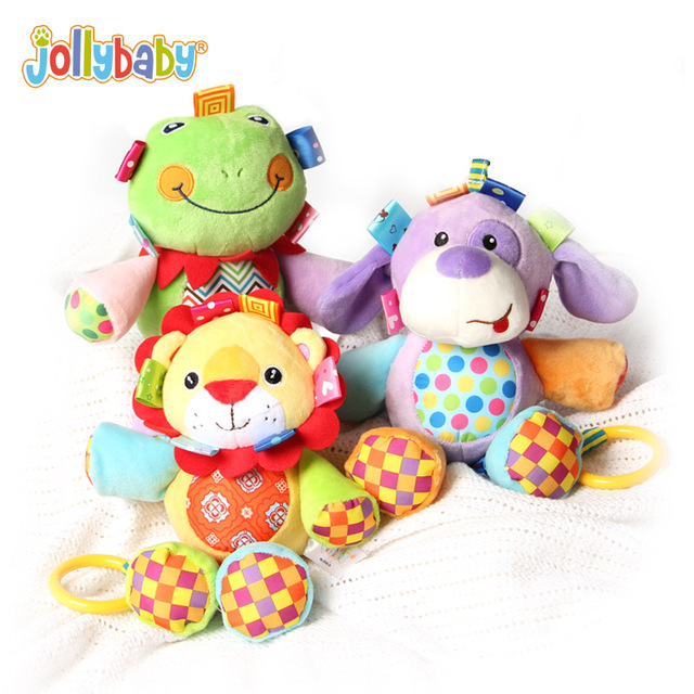 Jollybaby Cute Musical Plush Stuffed Animals Infant Baby Soft Educational Comfort Crib Hanging Toys For Newborns Children Gift 1