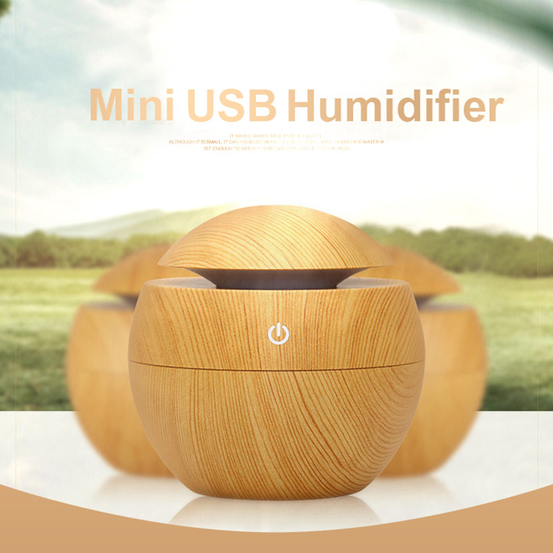 USB Aroma Essential Oil Diffuser Ultrasonic Cool Mist Humidifier Air Purifier 7 Color Change LED Night light for Office HomeUSB Aroma Essential Oil Diffuser Ultrasonic Cool Mist Humidifier Air Purifier 7 Color Change LED Night light for Office Home