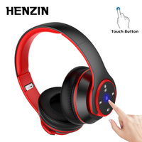 Foldable Headphone Touch Control Bluetooth Headset Wireless HiFi Stereo Earphone Noise Canceling With Mic Music FM