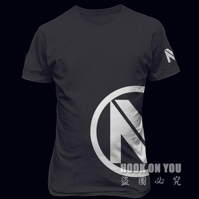 Equipo de juego CSGO Envyus Óptica Camisa Negro Camisetas Camiseta camiseta