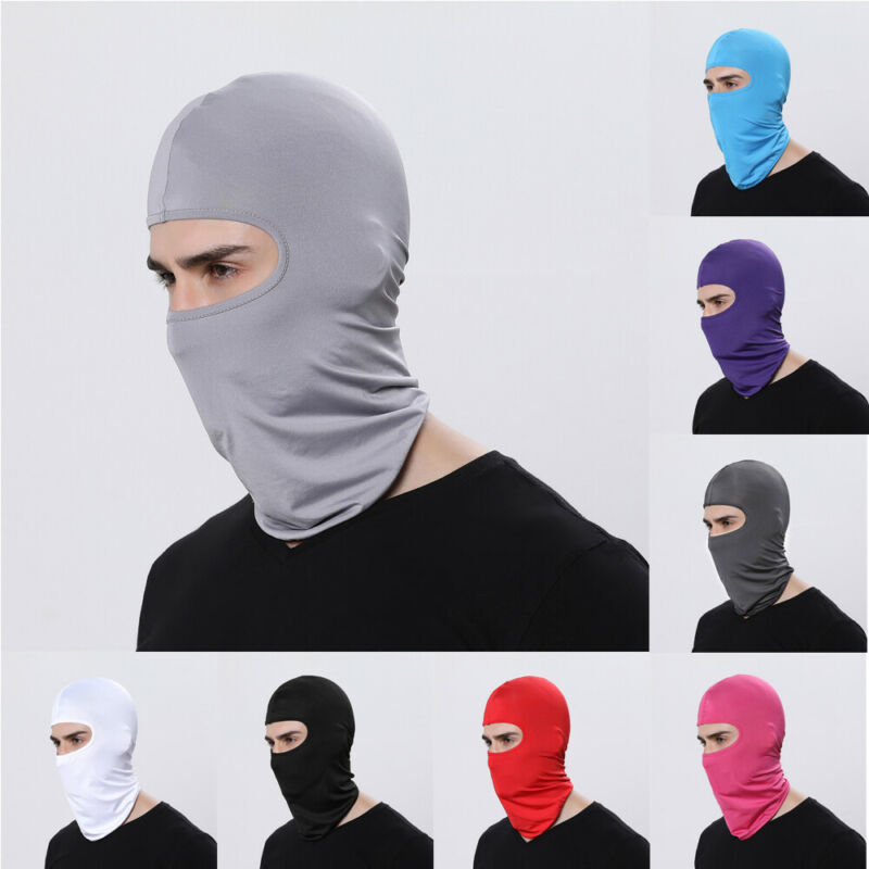 Full Face Mask Sun Ultra Outdoor Ski Motorcycle Cycling Balaclava MaskThin UV Protection Thin Hot Beanies Skinny Sun Face Shield