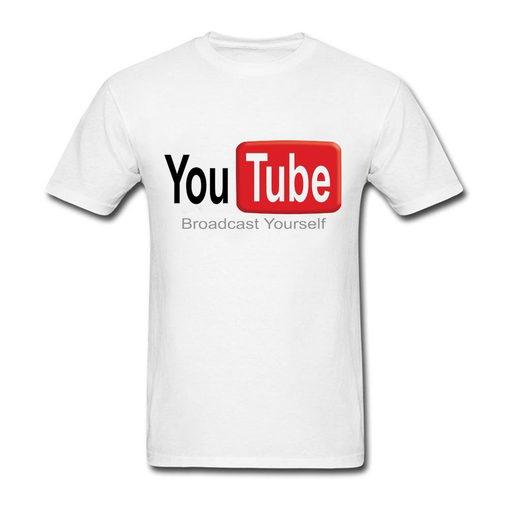 T shirt design youtube - New Printing Men Youtube Tee Shirt Broadcast Yourself Design Top Tees Summer Short Sleeve Men S O