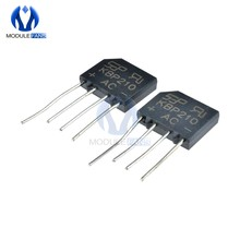10PCS 2A 1000V Bridge Rectifier Diode Single Phase Bridge Rectifier KBP210 Diy Elektronische Hohe Temperatur Löten