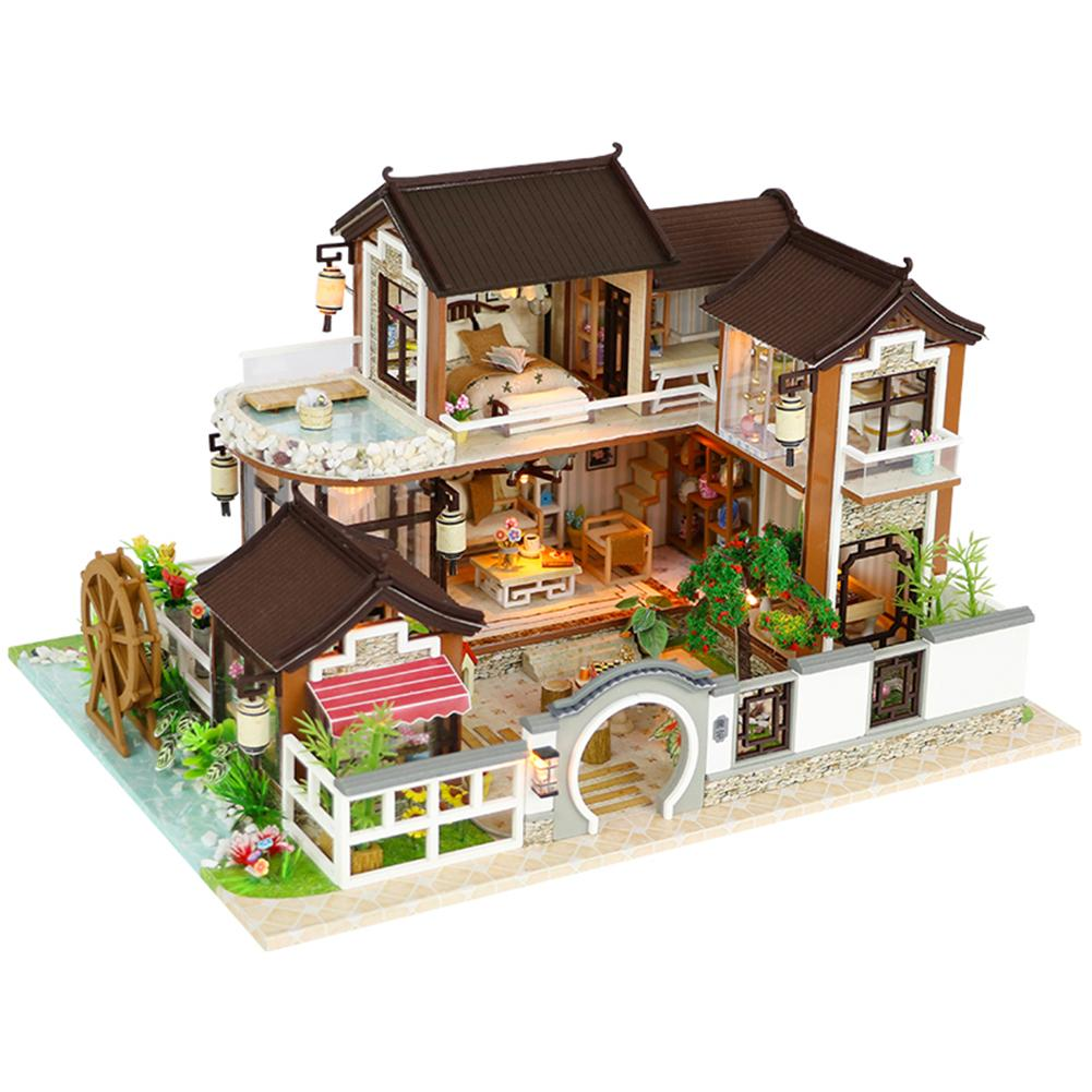 DIY Dollhouse Ancient Architecture Without Dust Cover Dream Back To The Ancient Town DIY Cabin Without Dust Cover dream diy 100
