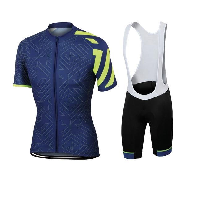 2018 NEW jersey set pro team bike wear men short sleeve cycling jersey bib  shorts 9D Gel Pad kit Cycling clothing MTB fbd506d81