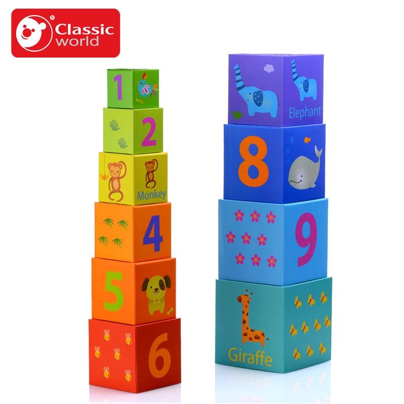 Classique monde enfant puzzle emballage carton animal et plante jouet numérique