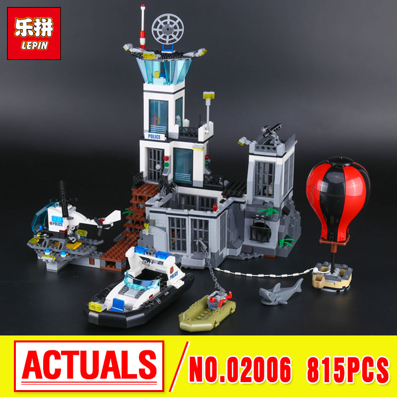 Lepin 02006 Genuine The Prison Island Set DIY City Series 60130 Building Blocks Self-Locking Bricks Educational boys girls gifts educational toys self locking bricks grandpa s farm set quality abs big building blocks funny diy toys boys girls best gift