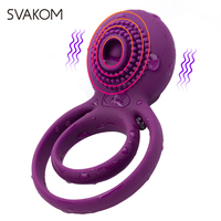 SVAKOM Tammy Vibrating Cock Rings Waterproof Rechargeable Cockring Vibrator Silicone Cock Ring Sex Toys for Couples Sex Products