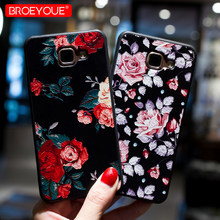 0b33b0542a2 3D Relief Floral Phone Case For Samsung Galaxy S8 S9 S10 Plus Case A6 A8 Plus  A7 2018 Note 9 J3 J5 J7 A3 A5 A7 2017 J2 Pro Cover