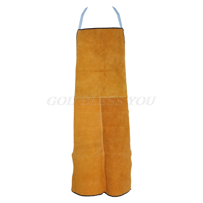 Security & Protection Safety Clothing Sporting Welding Apron Cow Suede Leather Safety Bib Welders Labor Work Protective Cloth Sturdy Construction