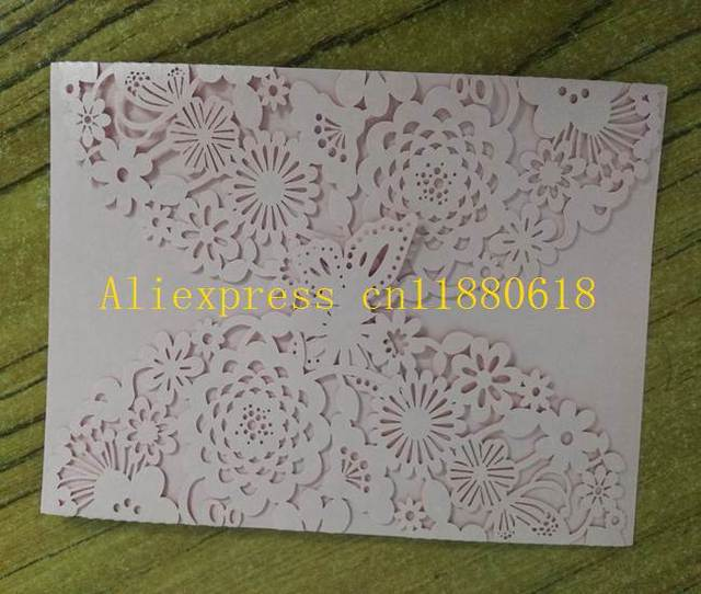 200pcs Lot Laser Cut Wedding Invitations Butterfly Flowers