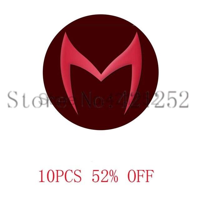 Scarlet Witch Pattern Super Hero Necklace Keyring Bookmark Cufflink