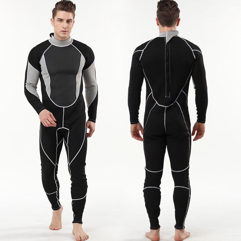 Hommes femmes 2mm néoprène complet combinaison à manches longues cerf-volant surf planche à voile maillots de bain nautisme plongée sous-marine costume chasse sous-marine - 5