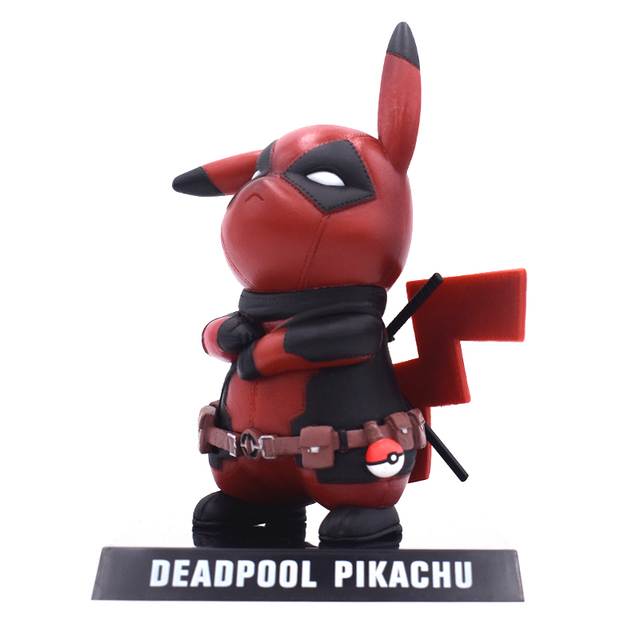 Genuine Deadpool Action Figure Pikachu Cosplay Deadpool Collectible Model Toy 15cm Pikachu Doll Superhero Toys FREE SHIPPING 3