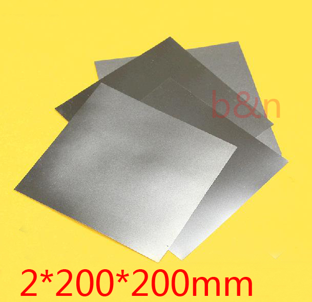 New 2mm 200 200 2mm thickness titanium Ti plate dynamic sheet TA2 GR2 ti alloy plate