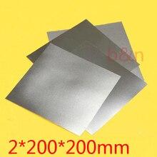 2 мм* 200*200 толщина 2 мм титановая Ti пластина динамический лист TA2 GR2 ti-alloy пластина чистый tisheets Ti Чип панель