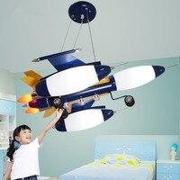 LED 5-10 w Bonito dos desenhos animados crianças quarto quarto de um estudo Do avião luz 110-240 v @-9 56*53*23 cm