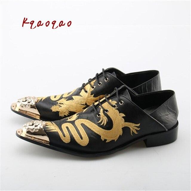Lujo patchwork formal mens Zapatos remache estilo de negocios Zapatillas  Hombre negro cuero 2018 nuevo Mancuello 77336720f42