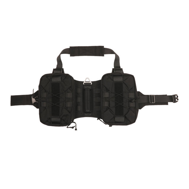 EXCELLENT ELITE SPANKER Tactical Service Dog Harness Training Molle Dog Backpack with 2 Capacious Side Pockets