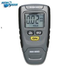 RM660 Digital Paint Coating Thickness Gauge Feeler Tester Instrument 1.25mm Iron Aluminum Base Metal Car Automotive Measure