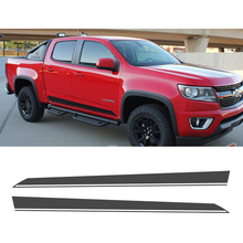 free shipping 2PC side and tail stripe graphic Vinyl sticker for Colorado double cab 2015 on