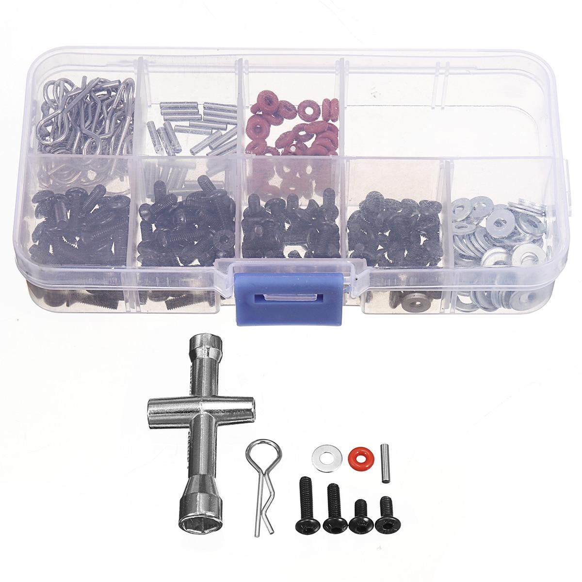 270 Stks Reparatie Tool En Schroeven Box Set Voor 1/10 Hsp Rc Auto Inclusief Inbussleutel Box Verpakt Schroef Tool Rc Speelgoed Reparatie Tools Snelle Kleur