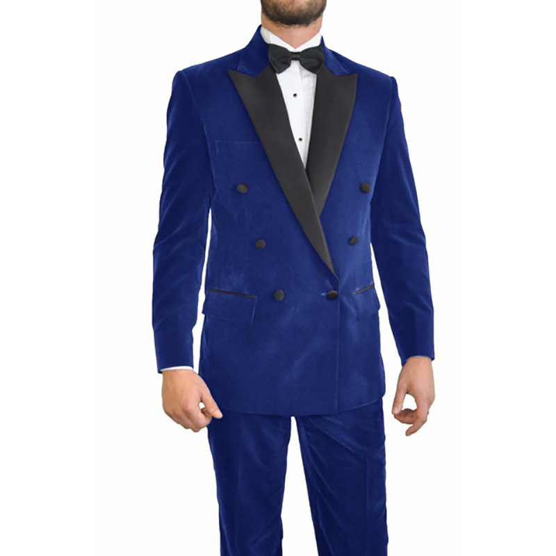 Royal-Bule-Velvet-Men-Suits-With-Peaked-Black-Lapel-Double-Breasted-Suits-2016Terno-Masculino-Custome-Homme