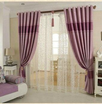 Blackout Vorhänge Für Wohnzimmer/Schlafzimmer Europäischen Stil Tüll Dicke  Vorhänge Fertige Lila/Braun/beige Fenster Behandlung