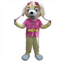 Skye mascot costume on Halloween carnival, kay cartoon costume fashion show