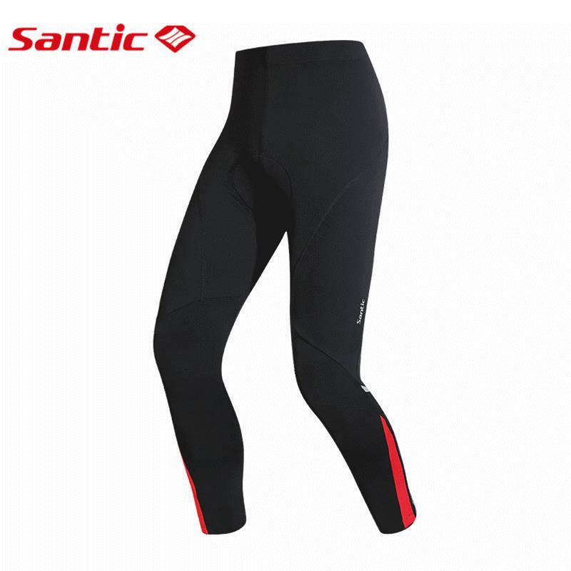 Santic Winter Cycling Pants Windproof Breathable 4D Pad MTB Mountain Road Bike Pants Men's Bicycle Tights Pantalon Ciclismo roswheel mtb bike bag 10l full waterproof bicycle saddle bag mountain bike rear seat bag cycling tail bag bicycle accessories