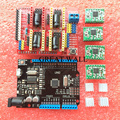 1set CNC Shield Expansion Board for Arduino 3D Printer + 4 x A4988 Stepper Motor Driver with Heat Sink + micro usb UNO R3