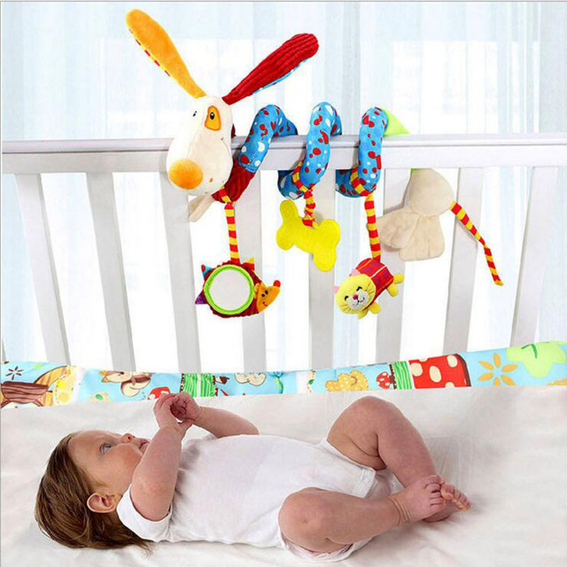 Cute Spiral Activity Stroller Car Seat Cot Lathe Hanging Baby Play Travel Toys Newborn Baby Rattles Infant Toys